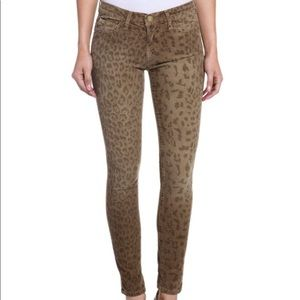 Current/Elliott Ankle Skinny Leopard Pants